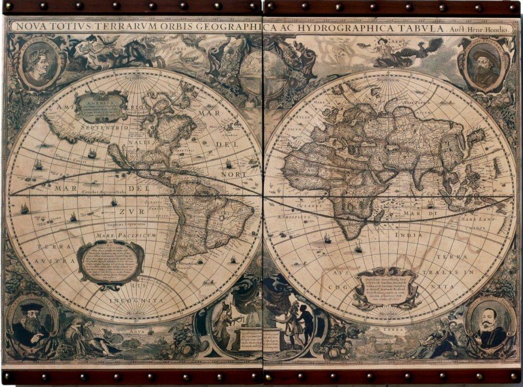stor världskarta tavla